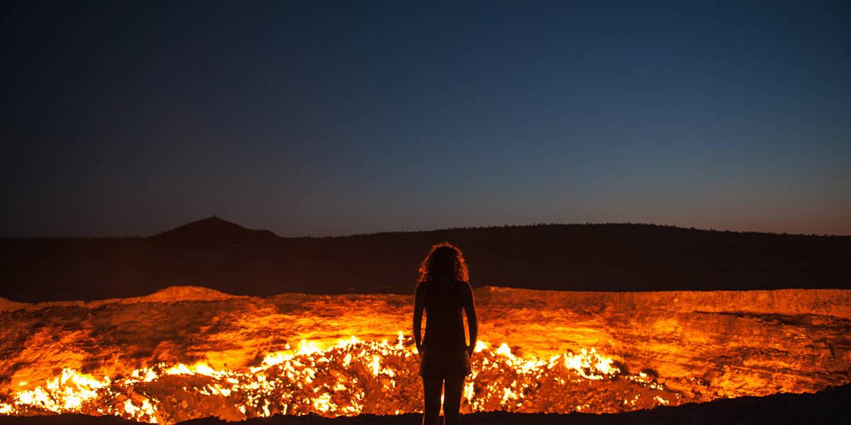 Dag 18 Khiva  – Kunya Urgench (Turkmenistan) – Darvaza Gas Crater